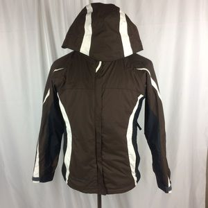 Columbia Womens Small Jacket Zip Up Brown Ski Coat